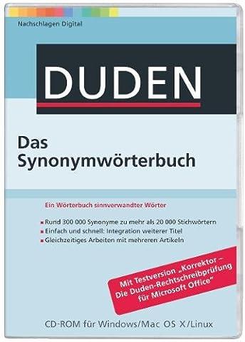 Duden - Das Synonymwörterbuch (PC+MAC+Linux)