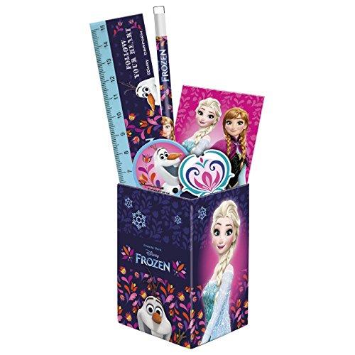 Frozen La Reine des Neiges set scolaire pot à crayons garni fournitures scolaires nouveaute Disney