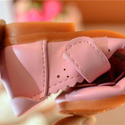 kingko® 100% nagelneu und Qualität Mädchen Sonnenblume kleine Schuhe Rosa