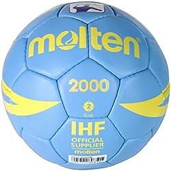 Molten H2X2000 - Balón de balonmano, color celeste, tamaño 2