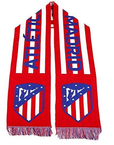 Bufanda Atlético de Madrid clásica horizontal nuevo escudo