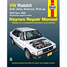 VW Rabbit, Golf, Jetta, Scirocco, Pick-up (1975-1992) Automotive Repair Manual (Haynes Automotive Repair Manuals)