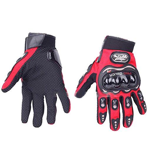 Preisvergleich Produktbild Mintice™ rot 3D Kohlefaser Biker Fahrrad Motorrad Rennhandschuhe voller Finger XXL