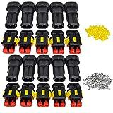 ZOEON 10 Set 2 Poliger Stecker Steckverbinder PA66 Nylon Steckdose Set für KFZ LKW Auto