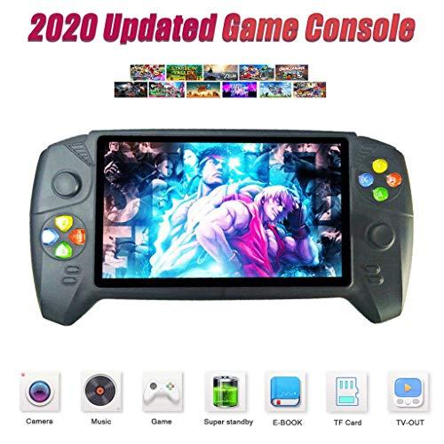 WFGZQ Handheld-Spielekonsole, Retro Tragbare Spielekonsole HD 7,0-Zoll-Display TV-Video-Ausgang Spielkonsolenspieler Kinder Geschenkmaschine (48 GB / 300 Spiele)