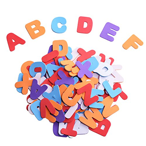 Outus Self-adhesive Foam Stickers Letters, Assorted Colors, 104 Pieces Test