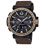 Casio Men's Pro Trek PRG600YL-5 Black Leather Quartz Sport Watch
