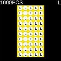 Etiqueta adhesiva de tamaño redondo para ropa, tamaño: 1000 PCS Tamaño: L, El embalaje conveniente