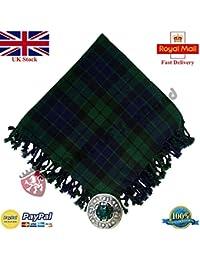 écossais Kilt Fly Plaid Motif à carreaux Noir Acrylique 121,9 x 121,9 793871fab7a