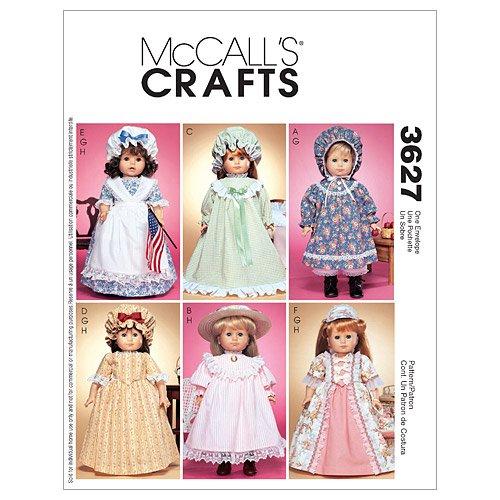 McCall's, Cartamodelli per Vestiti da Bambola, 8 Varianti, Istruzioni in Inglese