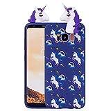 SANHENGMIAO COVER Per il telefono cellulare Samsung, Custodia protettiva in TPU per Samsung Galaxy S8 Modello Unicorno retro copertina 3D viola bambola Unicorn (Taglia : Sas7153a)