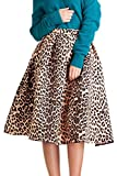 Frauen Hohe Taille 1940 Leopardenmuster Ruched Tutu - Rock Leopard XS