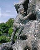 Malte klein Bronzefigur Skulptur echte Handarbeit Gartenskulptur Gartenfigur Garten-Statue