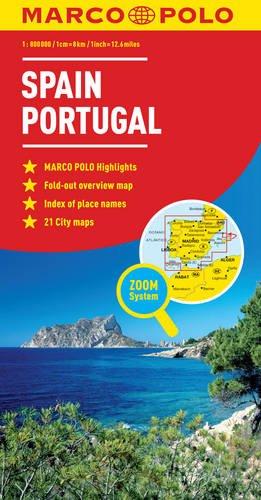 Spain & Portugal Marco Polo Map (Marco Polo Maps)
