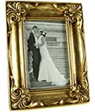 """Antique Gold Vintage Ornate Shabby Chic Picture Photo Frame 4"""" X 6"""""""