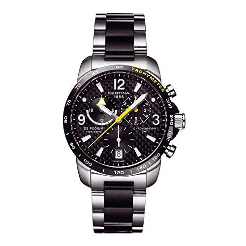 Certina Herren-Armbanduhr XL Chronograph Quarz Edelstahl C001.639.22.207.01