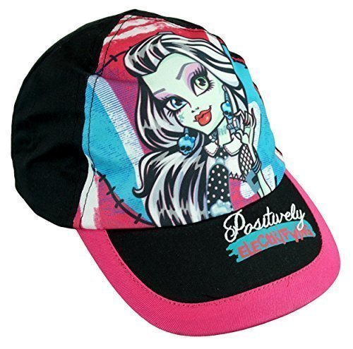 Image of Girls Monster High Draculaura Ghoulia Skull Baseball Cap Hat sizes from 3 to 12 Years