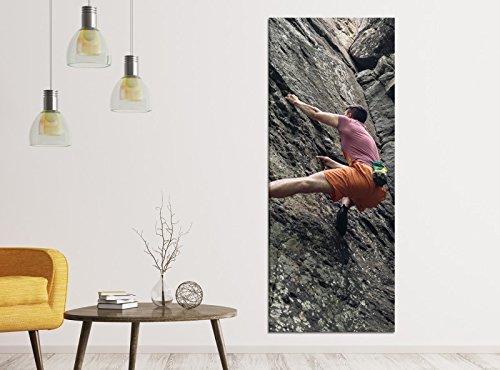 Leinwandbilder 1Tlg 40x100cm Freeclimbing Felsen Klettern Extrem Leinwandbild Kunstdruck Wand Bilder Vlies Wandbild Leinwand Bild Druck 9ZA1248, Leinwandbild Gr. 1:40cmx100cm