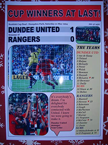 Sports Prints UK Dundee United 1 Rangers