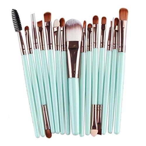 Longra 15 PC / Sätze 5 Farben Lidschatten Stiftung Augenbraue Lippenpinsel Make-up Pinsel Werkzeug...