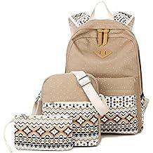 Caja de lápiz de geometría punto Casual lona portátil bolso hombro bolso escolar mochila mochilas ligeras para niñas adolescentes