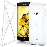 moex Nokia Lumia 625 | Hülle Silikon Transparent Klar Clear Back-Cover TPU Schutzhülle Dünn Handyhülle für Nokia Lumia 625 Case Ultra-Slim Silikonhülle Rückseite