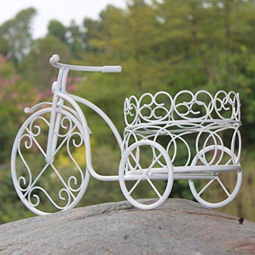 CJH Fenêtre Affichage Bureau De Fleur Étagère À Bicyclette Fer Forgé Européenne Pastorale Creative Blanc Fleur Stand