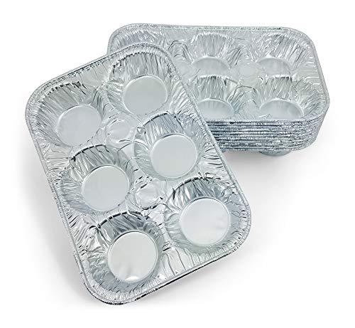 134486894d8 Disposable Muffin Pan: Durable Foil Disposable Aluminum Foil 6-Cup Standard  Size Muffin Pans