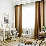 AZHYY Undurchsichtige Vorhänge Mit Bettdecken Für Schlafzimmer Thermo Vorhänge Undurchsichtige Undurchsichtige Set Von 2-215x135