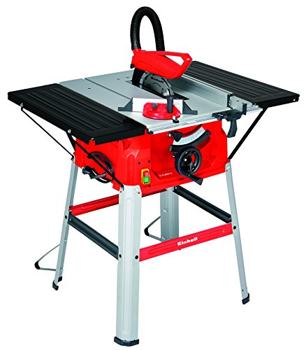 Einhell TC-TS 2025 U - Mesa de corte, 640 x 487 mm, hoja de sierra regulable, 5000 rpm, 2000 W, 220-240 V, color rojo y negro