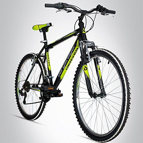 Bergsteiger Denver 26 Zoll Mountainbike, geeignet ab 155 cm, Shimano 18 Gang-Schaltung, Gabel-Federung, Jungen-Fahrrad & Herren-Fahrrad -