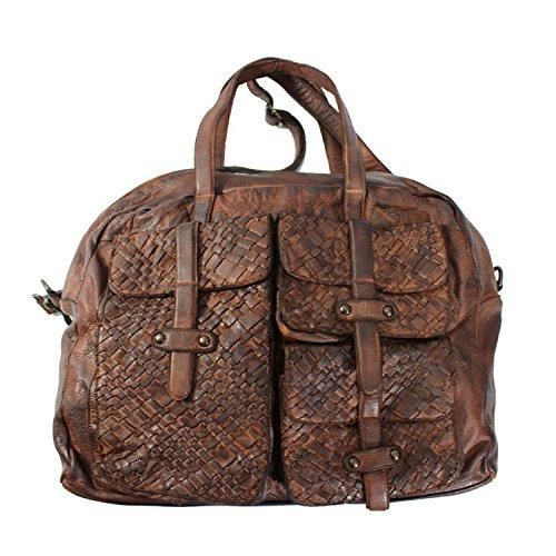 Damen Handtaschen weiches Leder Schultertasche - Damen Umhängetasche Vintage Schultertasche Echtes Leder Tasche Handtasche Schultertasche Cognac