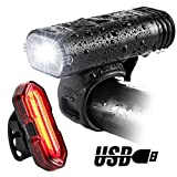 Bike Lights, BYBLIGHT USB Rechargeable LED Bicycle Torch Light Set, 350 Lumen Front