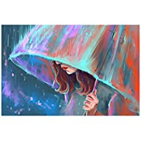 Paint-by-Numbers Kits for Adults - Orsit 5D Diamond Painting Embroidery Set,Girl(40X30cm/16X12inch)