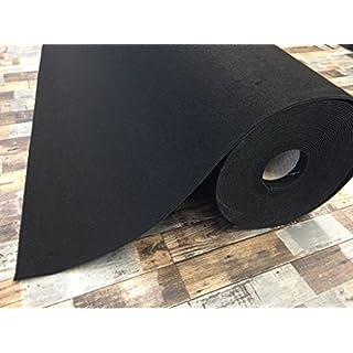 Autoteppich zur Auskleidung, Meterware in beliebiger Größe - Qualität Hit schwarz (2m x 2m Breite)