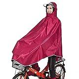 Tourwin Windjacke Fahrrad Regenjacke mit Kapuze, Poncho, 1 Stück rot rot