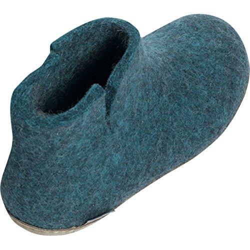 Glerups G-01-00 Unisex-Erwachsene Filz Hausschuhe Blau