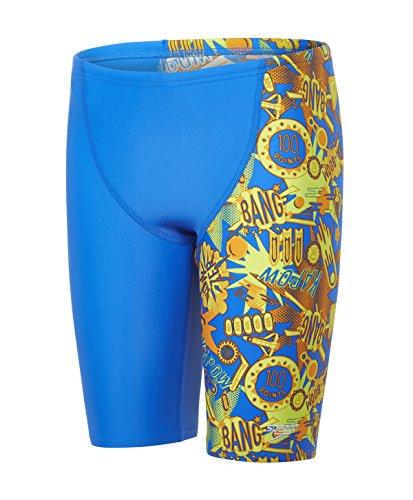 Speedo Jungen Ignition FlareAllover V Cut Panel Jammer Swimwear, Bondi/Jaffa/Lime Punch, 164