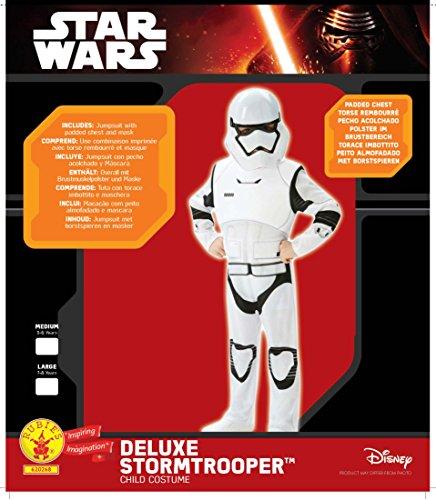 Star Wars  Disfraz de Villain Trooper  Episode 7  Deluxe para niños (Rubie s 62026)  M (5/6 años)