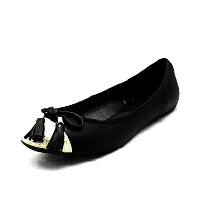 Sendit4me Noir Orteil Brillant Chaussures Plates À Pointes tH8juKPwC