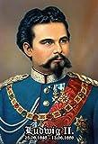 Ludwig II König von Bayern 1845-1886 portrait schild aus blech, metal sign, tin