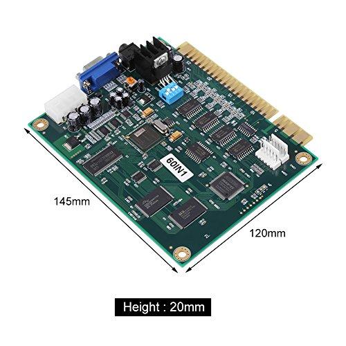 Klassiker 60 in 1 Multicade PWB-Brett CGA / VGA Ausgang für Säulengang-Spiel Maschine und Elektronisches Projekt (Multicade Arcade-maschine)