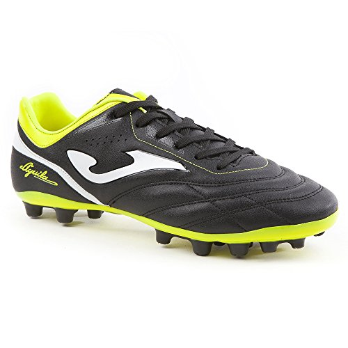 Joma Aguila, Chaussures de Football Mixte Adulte Noir (Black-yellow)