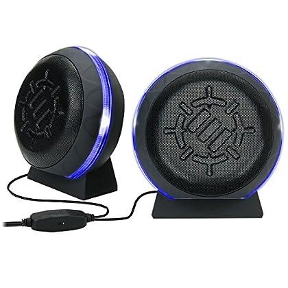 ENHANCE Altavoces Gaming LED para ordenador con...