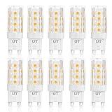 Ustellar Pack de 10 Bombillas LED G9 5W equivalentes a Lámparas Halógenas de 50W,Blanco cálido 3000K,340LM,AC 220-240V