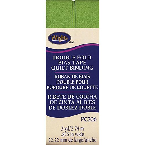 Wrights doppelt gefaltete Quilt Binding, 7/8 by 3-Yard, Leaf Green