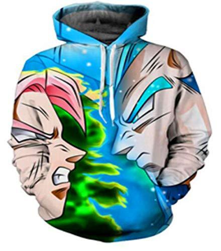 KapuzenpulloverUnisex Dragon Ball Zamas Kängurutasche Kapuzenpullover Benutzerdefinierte Kordelzug Hoodie Sweatshirt Schwarz XXS (Benutzerdefinierte Hoodie Sweatshirts)