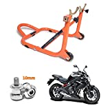 #7: GrandPitstop Rear Paddock Stand with CNC Swingarm Slider Spools Paddock Stand Bobbins Swing Arm M10 for Ninja ER-6N