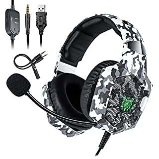 PS4 Gaming Headset,AIZBO Over-Ear Earphone Stereo Headphone Game Headset with Noise Canceling Mic,Volume & Mute Control for PS4 New Xbox One PC Computer Laptop Mobile Phone
