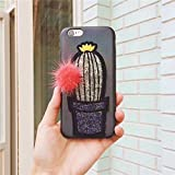 Ting Ting Plants Cactus Fur Ball Pineapples Leaves Soft Phone Cases Cover For Iphone 6 and 6S Capinha Coque Capa - Grey